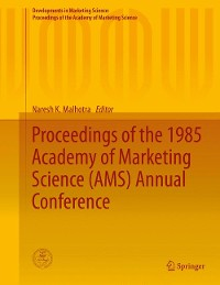 Cover Proceedings of the 1985 Academy of Marketing Science (AMS) Annual Conference