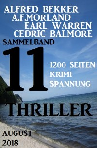 Cover Sammelband 11 Thriller August 2018