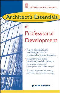 Cover Architect's Essentials of Professional Development
