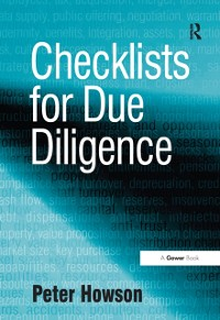 Cover Checklists for Due Diligence