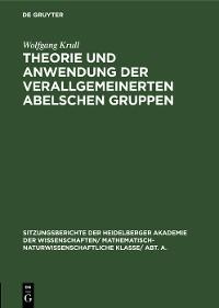 Cover Theorie und Anwendung der verallgemeinerten Abelschen Gruppen