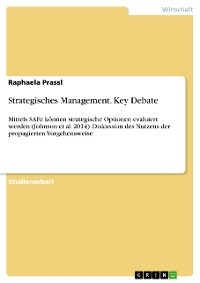 Cover Strategisches Management. Key Debate