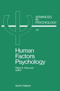 Cover Human Factors Psychology