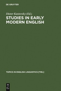 Cover Studies in Early Modern English