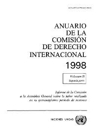 Cover Anuario de la Comisión de Derecho Internacional 1998, Vol.II, Parte 2