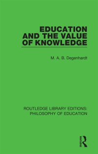 Cover Education and the Value of Knowledge