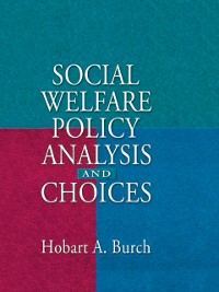 Cover Social Welfare Policy Analysis and Choices