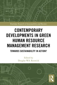 Cover Contemporary Developments in Green Human Resource Management Research