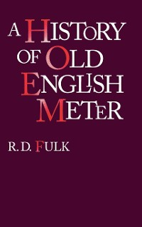Cover A History of Old English Meter