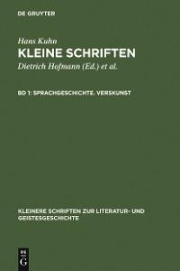 Cover Sprachgeschichte. Verskunst