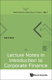Cover Lecture Notes In Introduction To Corporate Finance