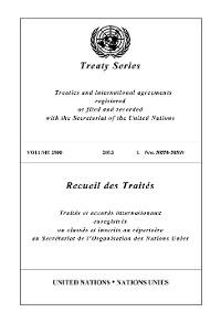 Cover Treaty Series 2900 / Recueil des Traités 2900