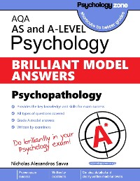 Cover AQA Psychology BRILLIANT MODEL ANSWERS: Psychopathology