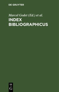 Cover Index bibliographicus