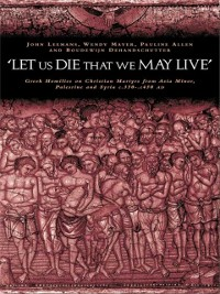 Cover 'Let us die that we may live'