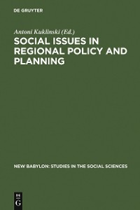 Cover Social Issues in Regional Policy and Planning
