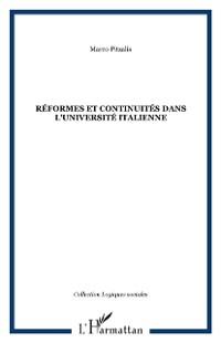 Cover REFORMES ET CONTINUITES DANS L'UNIVERSITE ITALIENNE