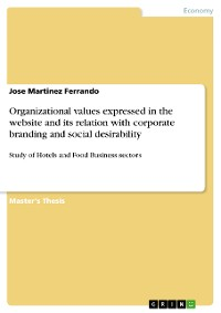 Cover Organizational values expressed in the website and its relation with corporate branding and social desirability