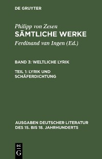 Cover Lyrik und Schäferdichtung