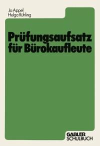 Cover Prufungsaufsatz fur Burokaufleute