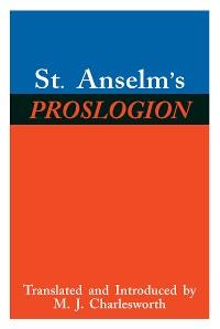 Cover St. Anselm's Proslogion