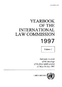 Cover Yearbook of the International Law Commission 1997, Vol.I