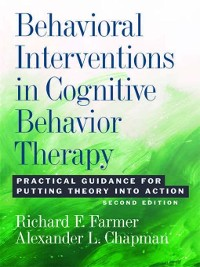Cover Behavioral Interventions in Cognitive Behavior Therapy