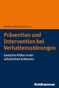 Cover Prävention und Intervention bei Verhaltensstörungen