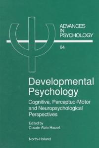 Cover Developmental Psychology