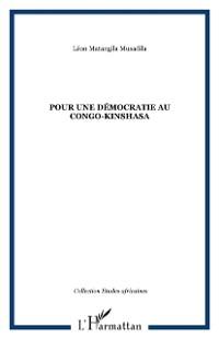 Cover Pour une democratie au congo-kinshasa
