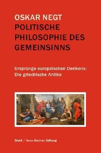 Cover Politische Philosophie des Gemeinsinns