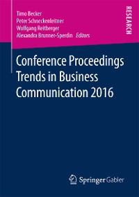 Cover Conference Proceedings Trends in Business Communication 2016