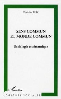 Cover Sens commun et monde commun sociologie e