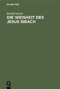 Cover Die Weisheit des Jesus Sirach