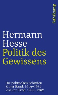 Cover Politik des Gewissens. Zwei Bände