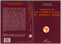 Cover VIOLENCES ET COMMUNAUTES EN AFRIQUE NOIRE