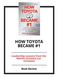 Cover How Toyota Became #1