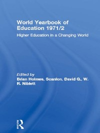 Cover World Yearbook of Education 1971/2