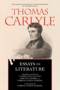Cover Essays on Literature
