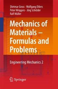 Cover Mechanics of Materials - Formulas and Problems