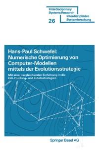 Cover Numerische Optimierung von Computer-Modellen mittels der Evolutionsstrategie