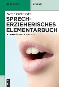 Cover Sprecherzieherisches Elementarbuch
