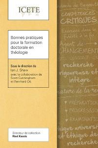 Cover Bonnes pratiques pour la formation doctorale en théologie