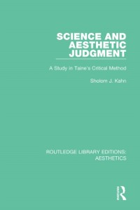 Cover Science and Aesthetic Judgement