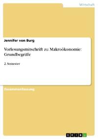 Cover Vorlesungsmitschrift zu Makroökonomie: Grundbegriffe