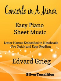 Cover Concerto in A Minor Opus 16 Easiest Piano Sheet Music