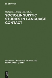 Cover Sociolinguistic Studies in Language Contact