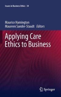 Cover Applying Care Ethics to Business