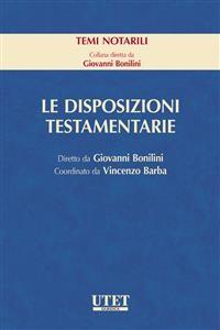 Cover Le disposizioni testamentarie