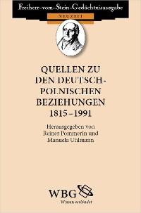 Cover Quellen zu den deutsch-polnischen Beziehungen 1815-1991